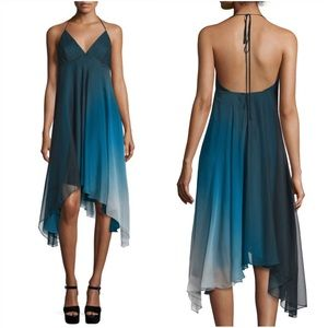 Halston Her Sleeveless Ombre Flowy Dress, Atlantic